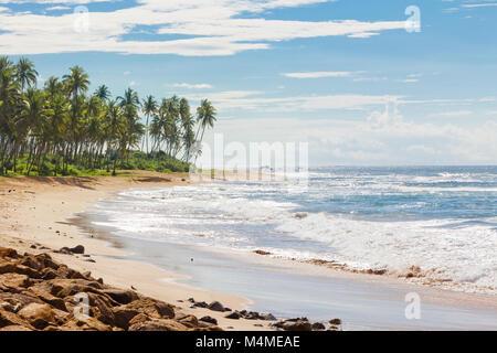 Sri Lanka, Asien, Rathgama - Beruhigend natürlichen Strand Landschaft von Rajgama aka Rathgama Stockbild