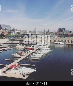 Old Montreal Hafen. Stockbild