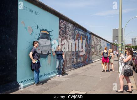 East Side Gallery, Berlin, Deutschland Stockbild