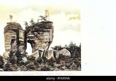 Die tyssaer st?ny, 1905, Aussig, Tyssa, Tyssaer Wände, Triumph, Pforte, Tschechische Republik Stockbild