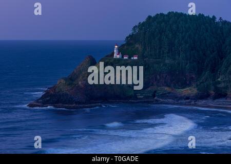 Heceta Head Leuchtturm entlang der Oregon Küste, USA Stockbild