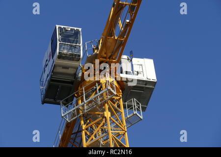Bau kran in der Bremer Überseestadt, Bremen, Deutschland, Europa ich Baukran in der Bremer Überseestadt, Bremen, Deutschland, Europa Stockbild