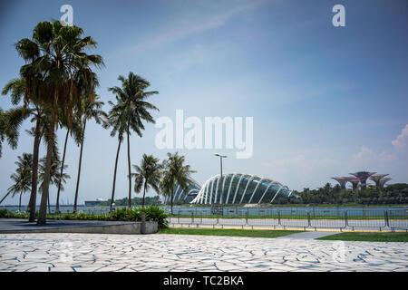 Die Blume Kuppel in der Marina Bay in Singapur Stockbild