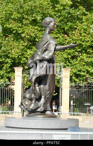 Großherzogin Charlotte Denkmal am Clairefontaine, Luxembourg City, Luxemburg, Europa ich Großherzogin Charlotte Denkmal bin Clairefontaine-Plat Stockbild