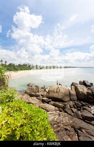 Asien - Sri Lanka - induruwa - Breiten und wunderschönen Strand Landschaft Stockbild