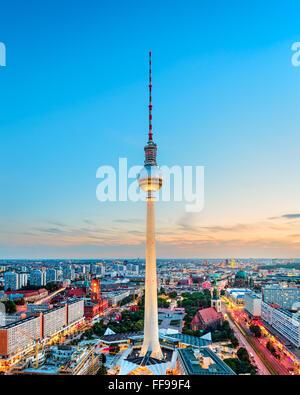 Skyline von Berlin, Deutschland. Stockbild