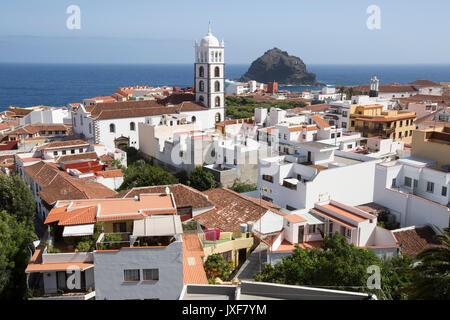 Die Stadt Garachico auf Teneriffa, Kanarische Inseln. Stockbild