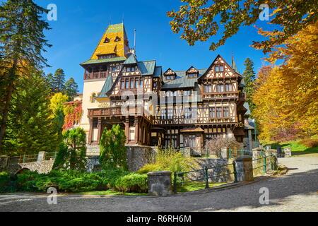 Schloss Pelisor, Sinaia, Rumänien Stockbild