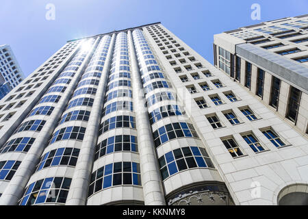 Moderne Architektur, Downtown, San Francisco, Kalifornien, USA Stockbild