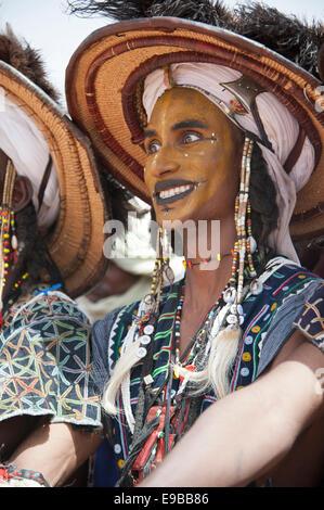Wodaabe Peul die Cure Salée Festival in Niger Stockbild