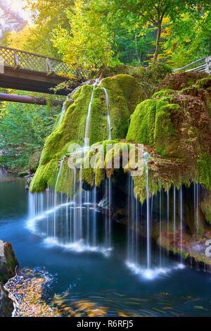 Bigar Wasserfall, Anina, Rumänien Stockbild