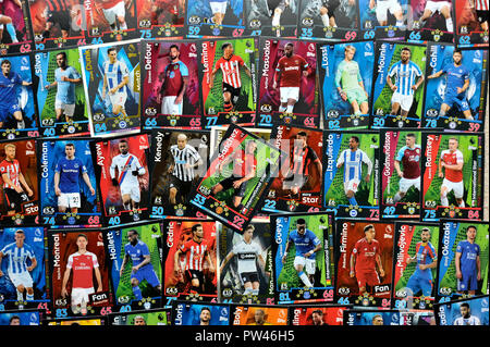 Die englische Premier League Topps Match Attax trading cards Stockbild