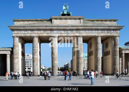 Brandenburger Tor in Berlin. Stockbild