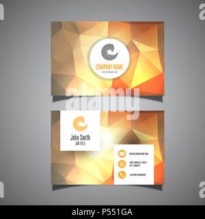 Visitenkarte vorlage mit einem modernen Design Stockbild
