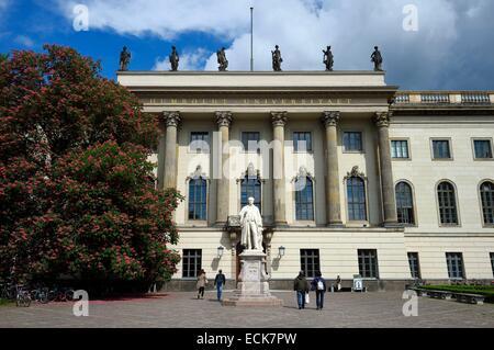 Deutschland, Berlin, Humboldt-Universit?t (Humboldt-Universität) unter Den Linden Stockbild