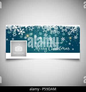 Social Media mit einem Weihnachten Design Stockbild