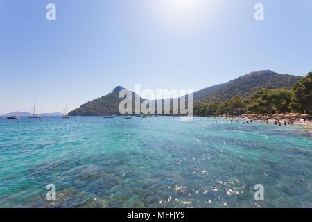 Platja de Formentor, Mallorca, Spanien - Nehmen gute Erinnerungen aus der verträumten Strand von Platja de Formentor Stockbild