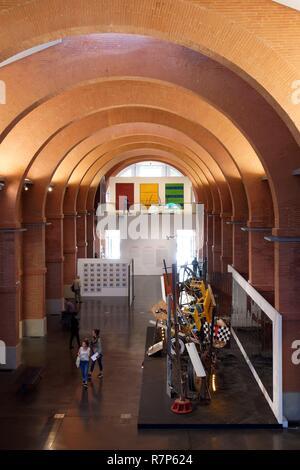 Frankreich, Haute Garonne, Toulouse, Les Abattoirs (Schlachthöfe), moderne und zeitgenössische Kunst Museum in Toulouse, diese ehemaligen Schlachthof brick bu Stockbild
