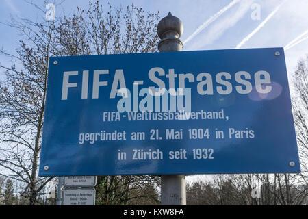 FIFA Street, Fédération Internationale de Football Association, Zürich Stockbild