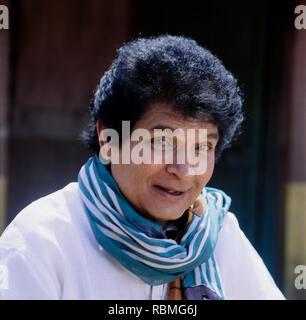 Portrait von Asrani sprechen, Indien, Asien Stockbild