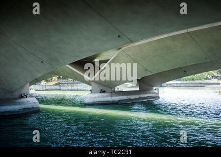 Brücken in der Marina Bay in Singapur Stockbild
