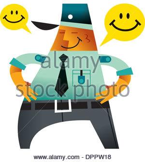 Ein Lächeln auf den Lippen Polizist Stockbild