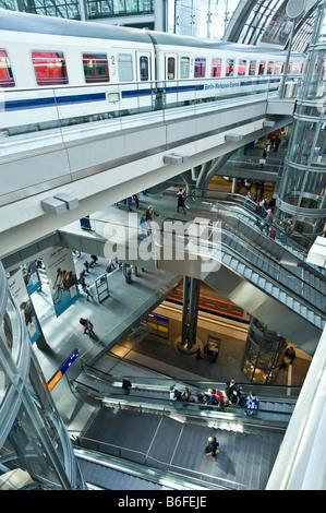 Berlin Central Station, Deutschland, Europa Stockbild