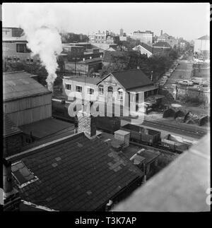 """Eisenbahn Titel und Amt bezahlen, 1965-1968. Eevated anzeigen. Diese Seite ist nicht identifiziert. Weitere Bilder in der gleichen """"Partie"""" zeigen Szenen in Kendal und Crewe. Stockbild"""