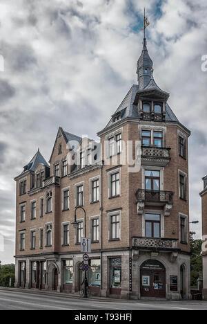 Historische Architektur an Koernerplatz im Stadtteil Loschwitz, Dresden, Sachsen, Deutschland, Europa. Stockbild