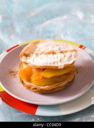 Apfel-Pfannkuchen Stockbild