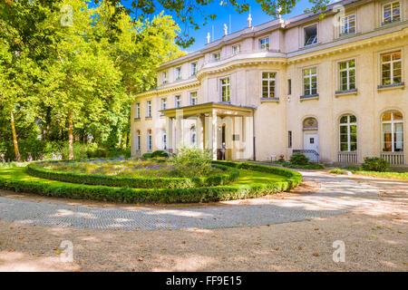 Das Haus der Wannsee in Berlin, Deutschland. Stockbild