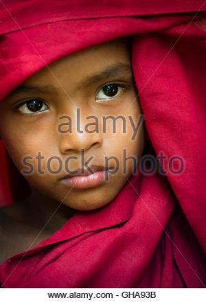 Junger Mönch, Myanmar Stockbild