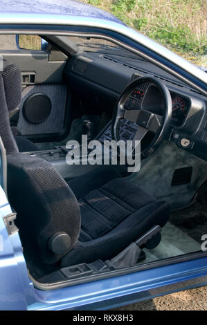 Innenraum eines 1985 Alpine Renault GTA Stockbild