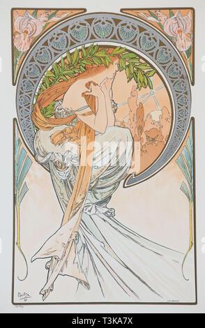La Poesia (aus der Serie der Künste), 1898. Private Sammlung. Stockbild