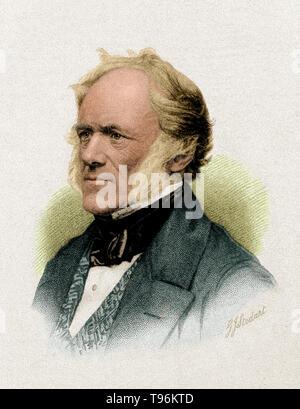 Charles Lyell (November 14, 1797 - Februar 22, 1875) war ein schottischer Geologe. Lyell zuerst auf eine juristische Karriere, aber seine Interessen in der Geologie führte zu seiner Ernennung als Generalsekretär der Geologischen Gesellschaft in 1823. In 1830-33 veröffentlichte er seine 3-Band Meisterwerk, Prinzipien der Geologie. Er unter Beweis gestellt, das Prinzip des Aktualismus erklärte von James Hutton zu unterstützen. Stockbild