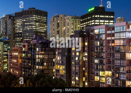 Nacht der Architektur in Sydney. Stockbild