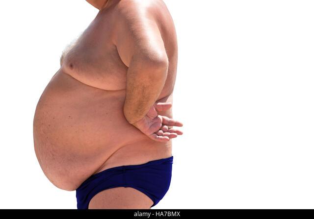 Bauch mann mit Starke Mode