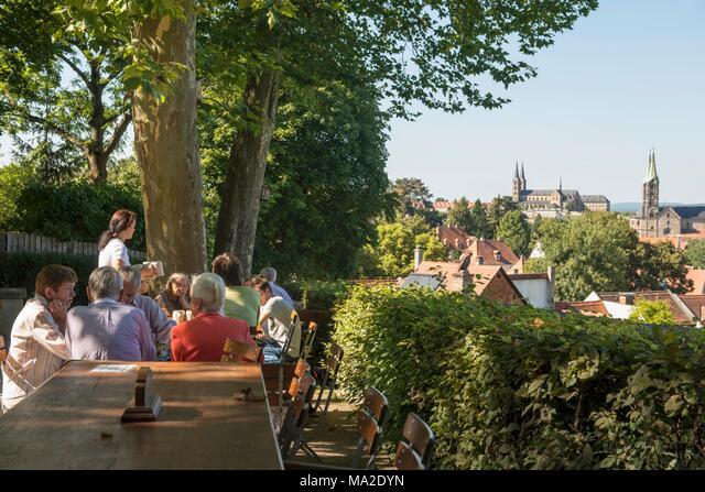 Die Brauerei Spezial Biergarten In Bamberg Stockfotografie Alamy