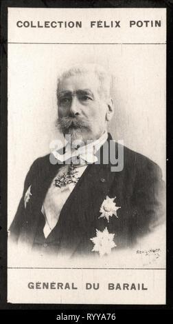 Retrato fotográfico de Du Barail Colección de Félix Potin, de principios del siglo XX. Imagen De Stock