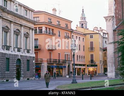 La plaza de la catedral de Vicenza Imagen De Stock