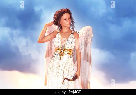 Un ángel con una flecha,3d ilustración Imagen De Stock