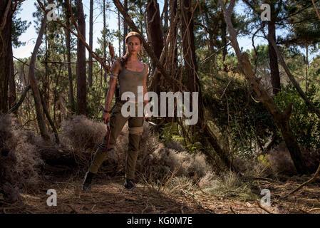 Fecha de lanzamiento: 16 de marzo de 2018, Título: Tomb Raider: MGM STUDIO DIRECTOR: Roar Uthaug parcela: Lara Imagen De Stock