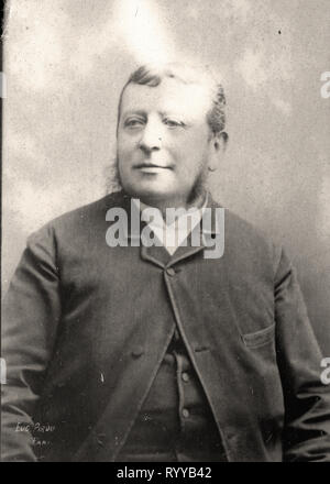 Retrato fotográfico de Demange de colección Félix Potin, de principios del siglo XX. Imagen De Stock
