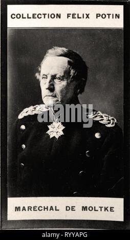Retrato fotográfico de Moltke de colección Félix Potin, de principios del siglo XX. Imagen De Stock