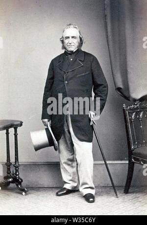 JOSEPH PAXTON (18034-1865) English jardinero y arquitecto que diseñó el palacio de cristal Imagen De Stock