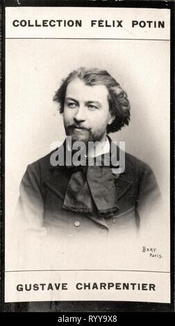 Retrato fotográfico de Charpentier de colección Félix Potin, de principios del siglo XX. Imagen De Stock