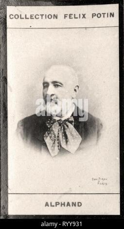 Retrato fotográfico de Alphand Colección de Félix Potin, de principios del siglo XX. Imagen De Stock