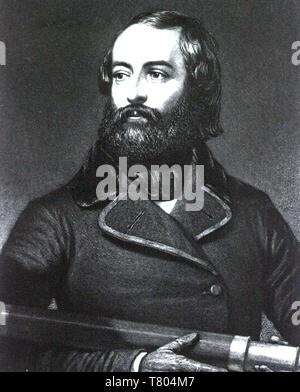 ELISHA KANE (1820-1857) explorador norteamericano y el médico Imagen De Stock