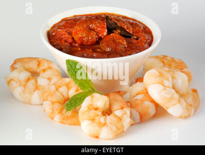 Pasta de curry de gambas ingrediente indio Imagen De Stock