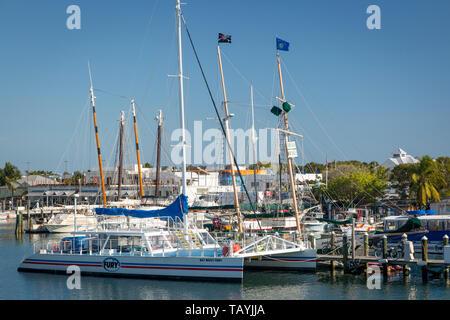 En los antiguos barcos de la marina de Key West, Florida, EE.UU. Imagen De Stock